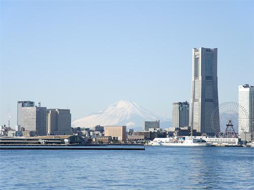 横浜港からの眺め