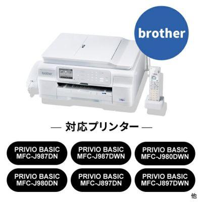 対応プリンターは、PRIVIO BASIC MFC-J987DN/DWN、PRIVIO BASIC MFC-J897DN/DWN、PRIVIO BASIC MFC-J727D/DWです。