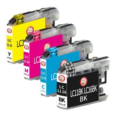 LC11-4PK LC16-4PK brother [ブラザー] 互換インク 4色セット
