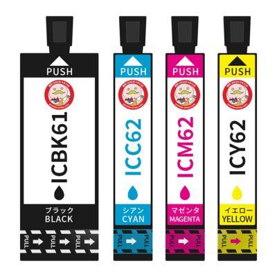 IC4CL6162(IC6162 ペンとクリップ)EPSON [エプソン] 互換インク 4色セット