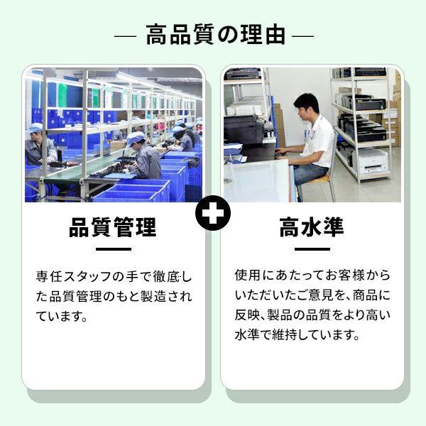 互換インクが高品質の理由は、徹底された品質管理をもと高品質を維持しているからです。