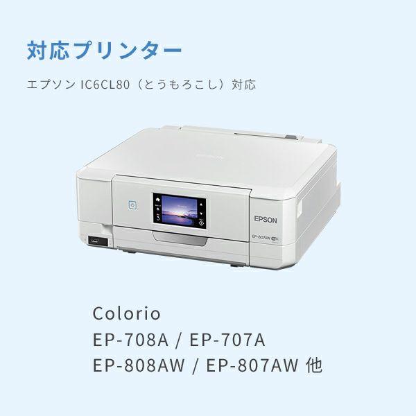 対応プリンターは、Colorio EP-976A3、Colorio EP-806A、Colorio EP-776Aです。