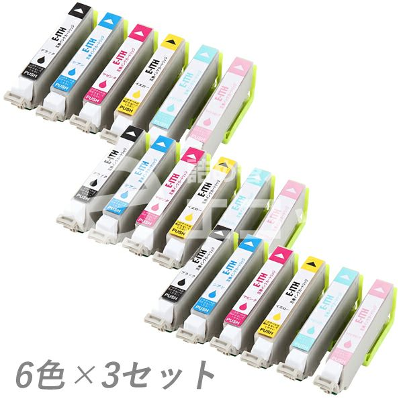 ITH-6CL (イチョウ) EPSON [エプソン] 互換インク 6色×3セット