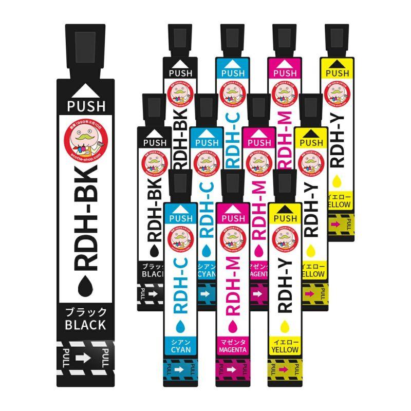 RDH-4CL (リコーダー) EPSON [エプソン] 互換インク 4色×3セット