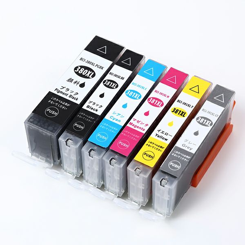 BCI-381XL+380XL/6MP (BCI-380XL BCI-381XL 6色 マルチパック 大容量) Canon [キャノン] 互換インク 6色セット