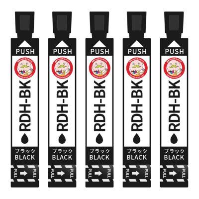 RDH-BK-L (リコーダー) EPSON [エプソン] 互換インク 染料ブラック5個セット