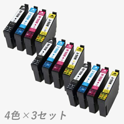 MUG-4CL (マグカップ) EPSON [エプソン] 互換インク 4色×3セット